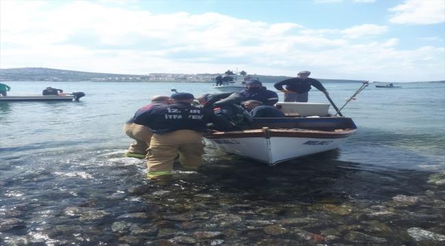 Denize düşen eğitim uçağındaki 2 pilot kurtarıldı
