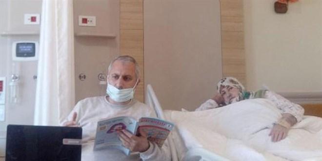 Öğretmenin görev aşkı: Hastane odasını sınıfa çevirdi